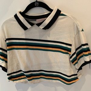 Urban Outfitters Cropped Striped Polo